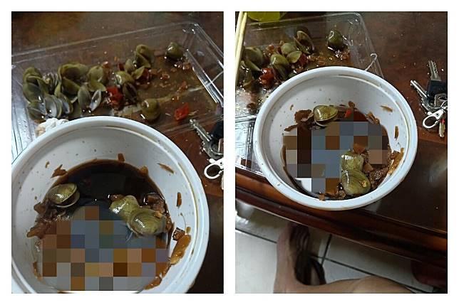 ▲在新竹南寮買了一碗蜆仔,吃完時驚見碗底有「透明碗蓋」,讓他不禁質疑這是不是要「偷工減料」撐場面。(圖/翻攝自《爆廢公社公開版》)