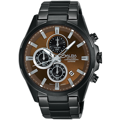 ALBA VD57-X081U(AM3349X1) 時尚三眼計時腕錶/43mm