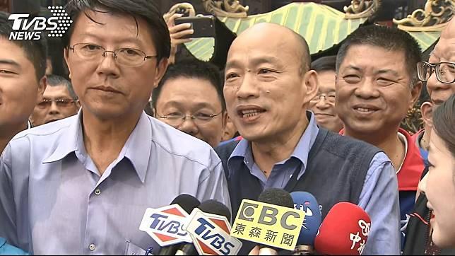 謝龍介表示,韓國瑜在年輕人的支持度愈來愈增加,看好能夠勝選。(圖/TVBS)