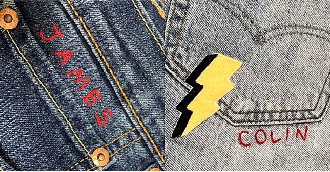 想低調少少,可以選擇於牛仔褲袋沿邊繡上英文名字點綴。(互聯網)