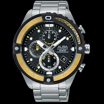ALBA VD57-X071Y(AM3324X1) 活力三眼計時腕錶/46.5mm