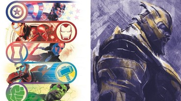 《復仇者聯盟 4》釋出一系列角色藝術圖 存活下來的「初代復仇者」6 人感動合體!