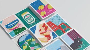 珍奶、台啤、維力炸醬麵躍上郵票!「台灣日常縫隙」變成明信片上的風景,將台灣味寄到各地