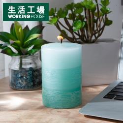 【生活工場】微風海浪漸層4吋蠟燭