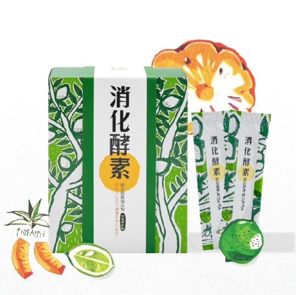全方位的消化酵素配方,幫助消化 其中鳳梨酵素取自於土鳳梨莖(酵素活性含量是果實的10倍)