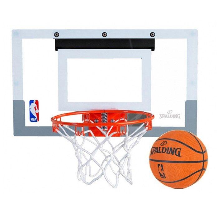 領券再折$100 【毒】SPALDING 斯伯丁 NBA SLAM JAM 等比例 灌籃 透明小籃板+彈簧籃框+籃球 送手環