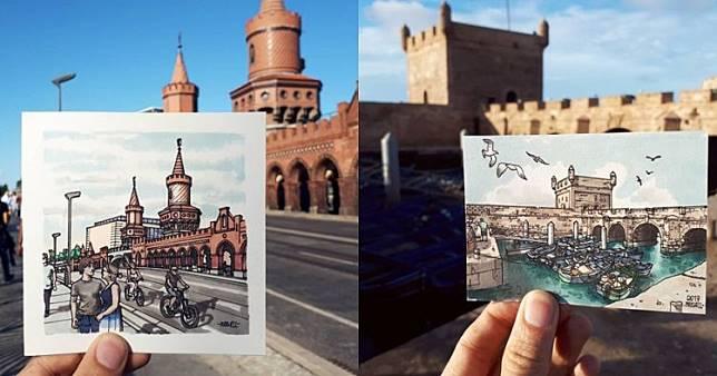 Wow 10 Sketsa Pemandangan Kota Karya Pria Ini Detailnya Bikin Takjub