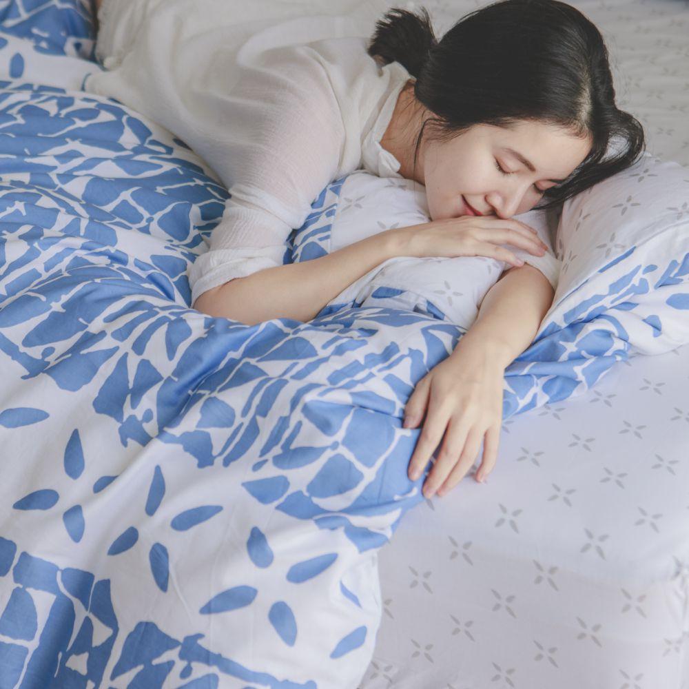 床包被套組(薄被套)-雙人 / 100% 精梳純棉/ Hazel