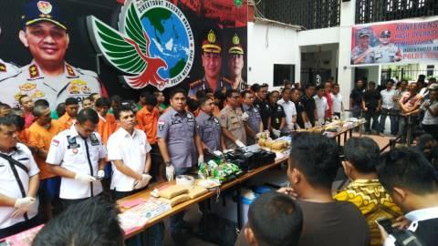 410 Tersangka Narkotika Diamankan dalam Operasi Nila Jaya 2019