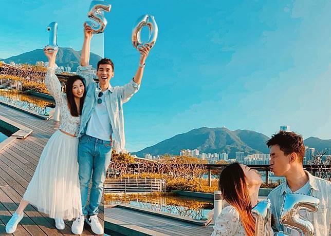 林奕匡與好老婆在社網放閃。