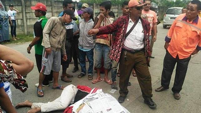 Korban tewas di tempat usai mengalami kecelakaan lalulintas, Kamis (21/11/2019).