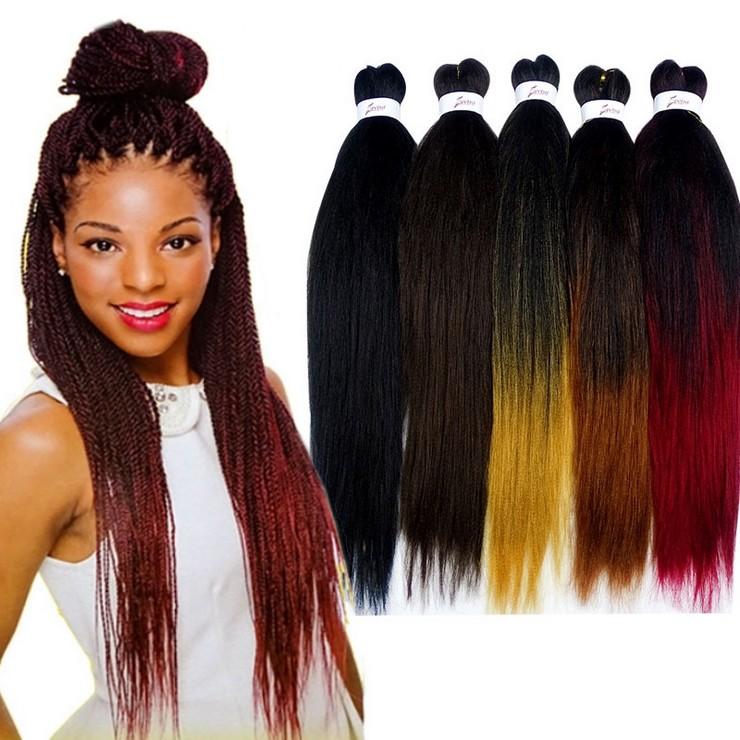 【現貨】單色/雙色漸變 非洲髒辮子Braid hair 假髮 黑人頭髮接髮26吋長