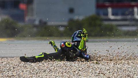 Valentino Rossi sedang menjalani periode buruk dalam kariernya di MotoGP. (Dorna Sports)