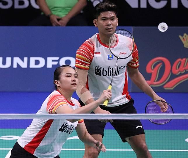 Champs: Indonesian mixed doubles' pair Praveen Jordan and Melati Daeva Oktavianti in action during the Denmark Open 2019.