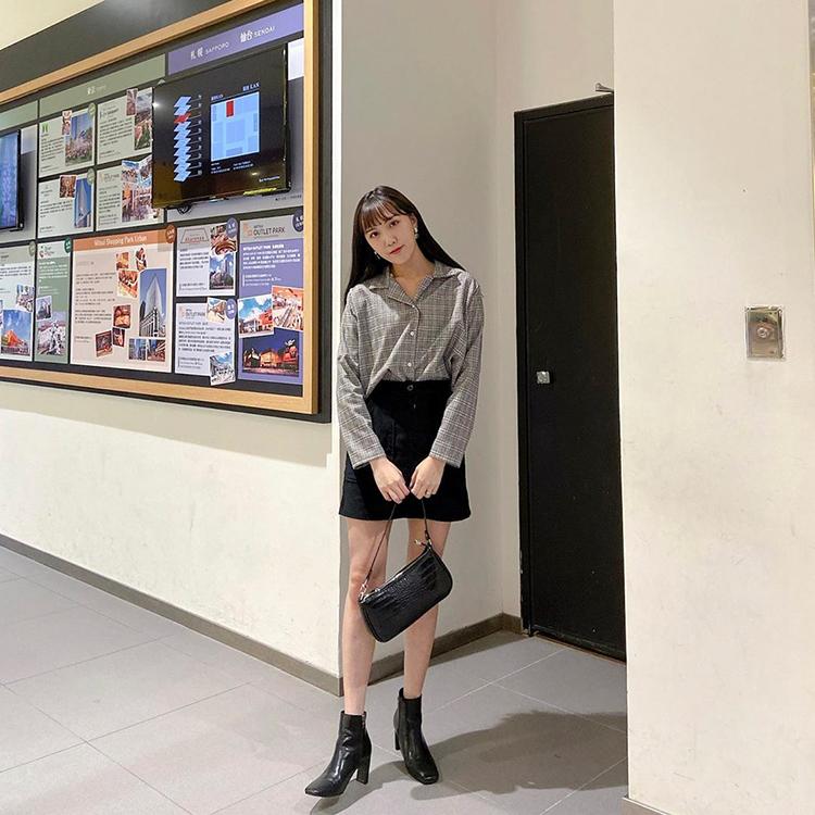 D+AF 情人節穿搭 短裙 襪靴 黑色襪靴