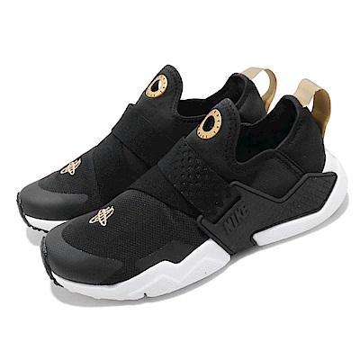 品牌: NIKE型號: AQ0575-007品名: Huarache Extreme GS配色: 黑色 白色特點: 休閒鞋 武士鞋 套腳 穿脫方便 經典 大童 黑 白參考童鞋尺寸表