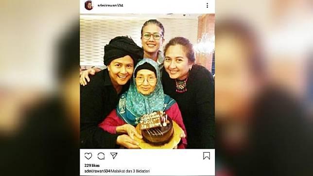 Ade Irawan dan ketiga putrinya. Instagram/@Adekirawan504