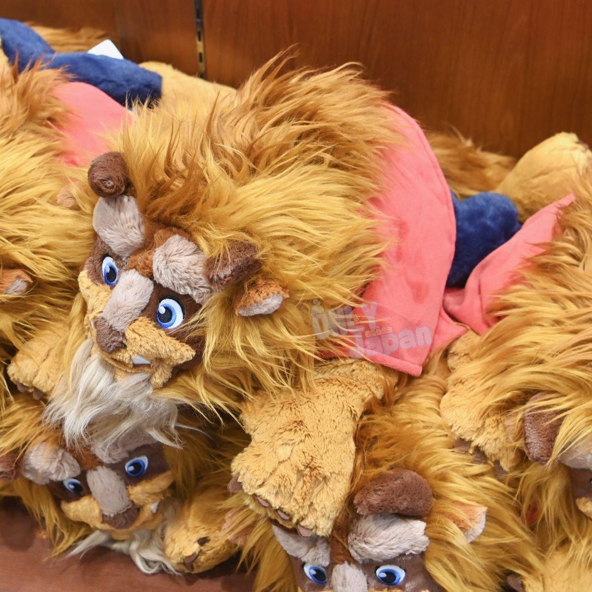 真愛日本 野獸 經典 趴姿 棉柔娃 美女與野獸 東京迪士尼樂園帶回 抱枕 靠枕 禮物 玩偶 娃娃 布偶