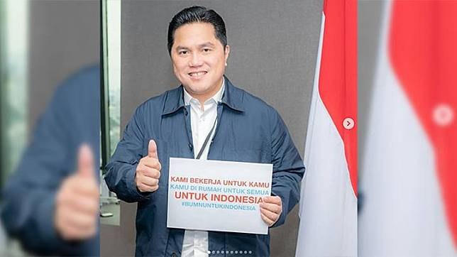 State-owned Enterprises (SOEs) Minister Erick Thohir posts a picture of himself on his Instagram account, thanking all of SOEs employees for being at the forefront in providing services to the people amid the coronavirus pandemic. Instagram/erickthohir