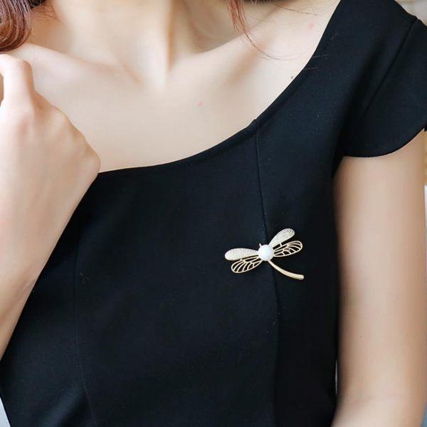 蜻蜓胸針 胸花簡約別針 女韓國大氣外套大衣時尚開衫飾品百搭配飾