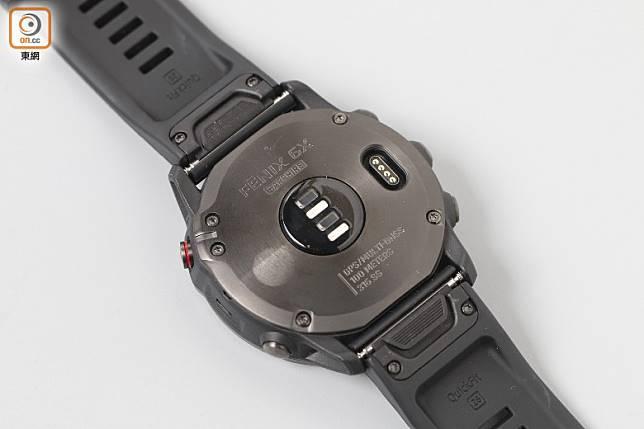 光學心率感測器,可測量活動強度、心率變異及壓力等級。(莫文俊攝)