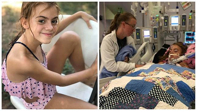 美國1名女童日前游泳後突然陷入昏迷,經檢查是食腦蟲侵襲大腦。(圖/翻攝自臉書)
