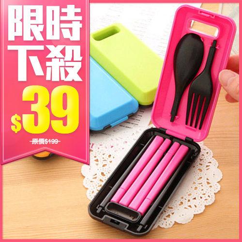糖果色餐具三件組 (叉子+勺子+筷子)【BG Shop】~ 不挑色 隨機出貨 ~