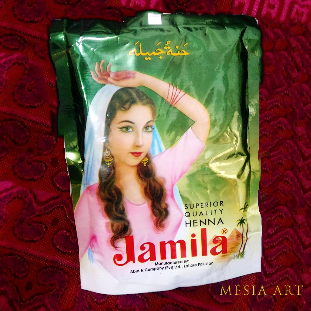 Jamila BAQ Henna Powder 250g-指甲花粉彩繪顏料-天然高純度亦可中東印度漢娜植物護髮染髮用
