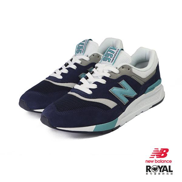 New Balance 新竹皇家 997H 藍紫色 織布 拼接 休閒運動鞋 男款 NO.B0635