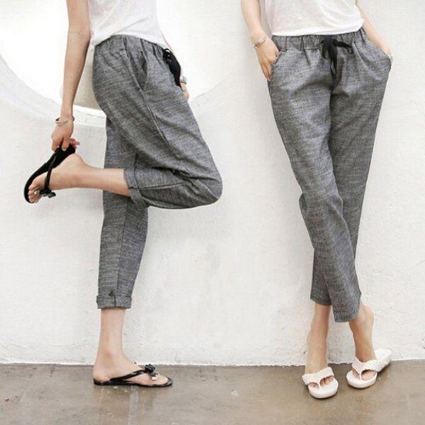 版型寬鬆顯瘦遮肉,舒適好穿,n鬆緊腰圍(非托腹設計),n簡約時尚。