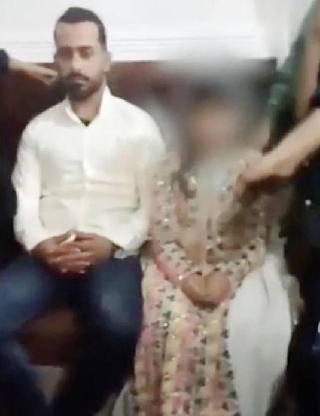 Geger rekaman video anak 10 tahun di Irak dipaksa nikah dengan sepupu laki-lakinya 22 tahun. sumber: mirror.co.uk.
