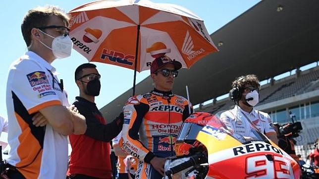 Pebalap Repsol Honda, Marc Marquez. [PATRICIA DE MELO MOREIRA / AFP]
