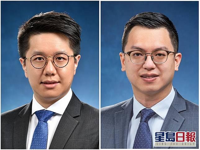 何啟明(右)、葉俊廉(左)。