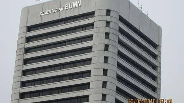 Gedung Kementerian BUMN di Jalan Medan Merdeka Selatan, Jakarta Pusat, Sabtu (12/3/2016). [Suara.com/Adhitya Himawan]