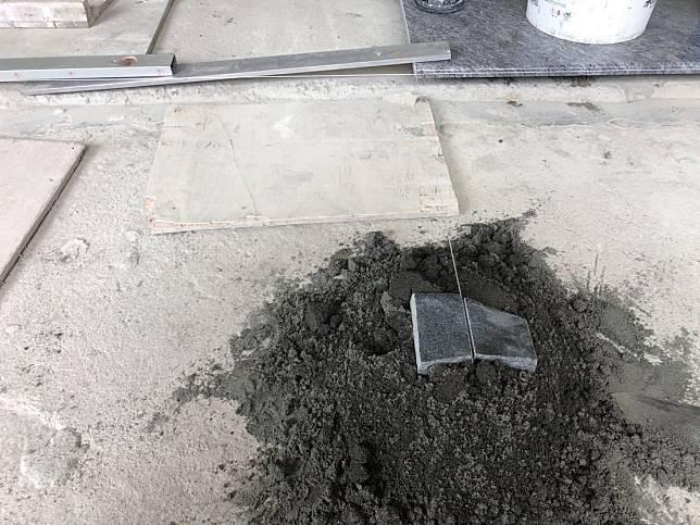 地坪石材施作流程: