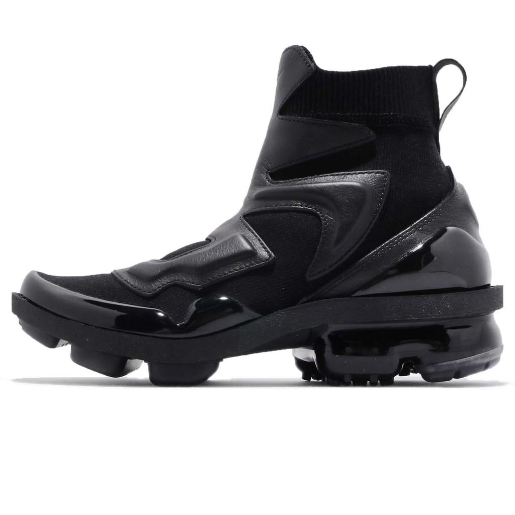 Nike Vapormax 黑 全黑 大氣墊 皮革鞋面 高筒 靴子 慢跑鞋 女鞋 AO4537-001 【ACS】