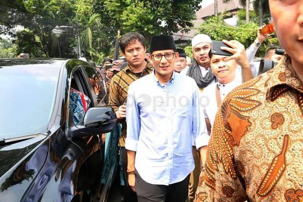 Sandi Sebut Tak Benar jika Prabowo Telah Bertemu Jokowi