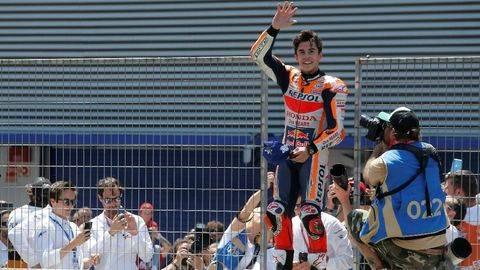 Pole Position di MotoGP Prancis, Marquez Samai Rekor Rossi