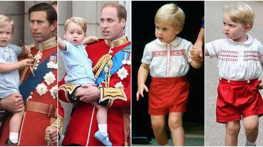 英國皇室超萌父子撞衫圖輯!威廉王子與喬治王子的「撞衫造型」盤點