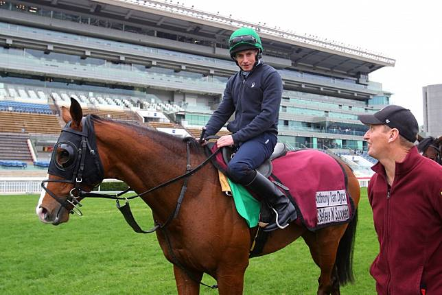 Ryan Moore says Anthony Van Dyck is a better three-year-old than Highland Reel