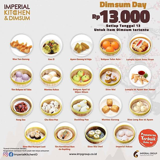Imperial Kitchen Promo Dimsum Day Rp 13 000 Imperial Kitchen Line Today
