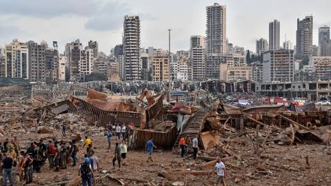 Foto: Sisa-sisa Ledakan Besar di Lebanon