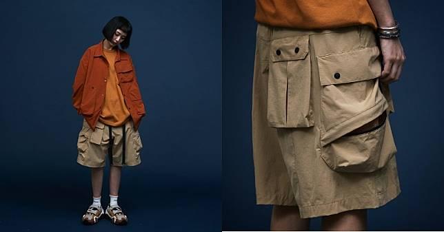 早前推出的L-W03 Pioneer Shorts靈感源自USMC P44軍褲,但換上立體寬鬆剪裁,並設有實用性極高的多口袋設計。(互聯網)