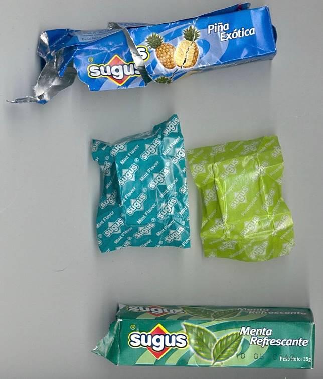 大家還記得經典口味薄荷(圖下)及菠蘿(圖上)的筒裝包裝嗎?(互聯網)