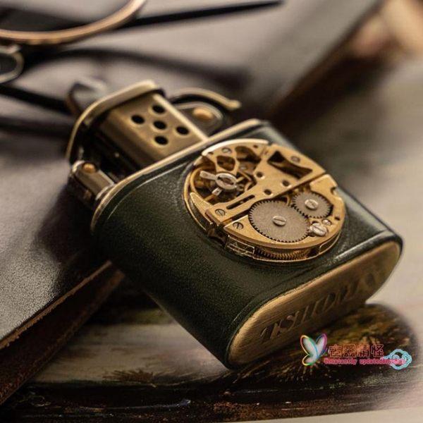 純銅復古機芯原創設計煤油老式防風個性定制禮物打火機男