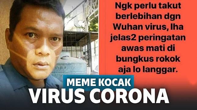 Viral Meme Kocak Ala Warganet Tentang Virus Corona