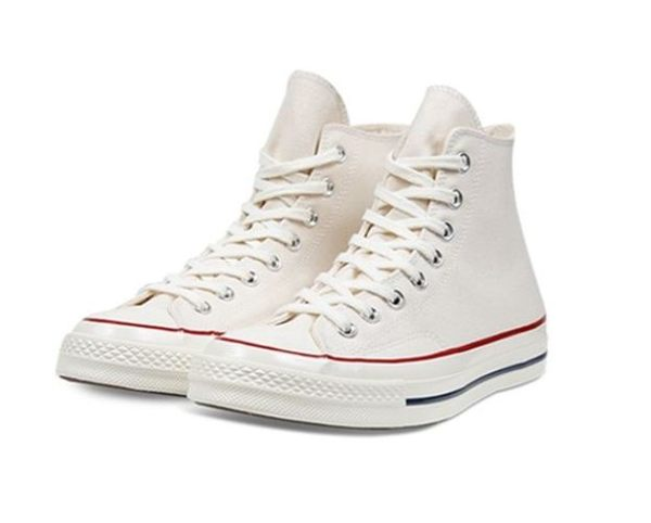 CONVERSE系列 Chuck Taylor All Star 70 中性款米白 高筒休閒帆布鞋 -NO.162053C