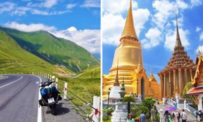 Du lịch nước ngoài phải đi bằng máy bay, ô tô, ai đời mà đi bằng xe máy!