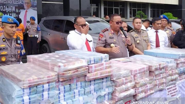 Polda Jawa Timur Bongkar Investasi Bodong Beromzet Rp 750 Miliar