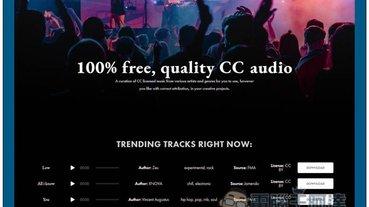 cchound 提供超過 30,000 首免費配樂、音樂素材的網站,商用、個人皆可
